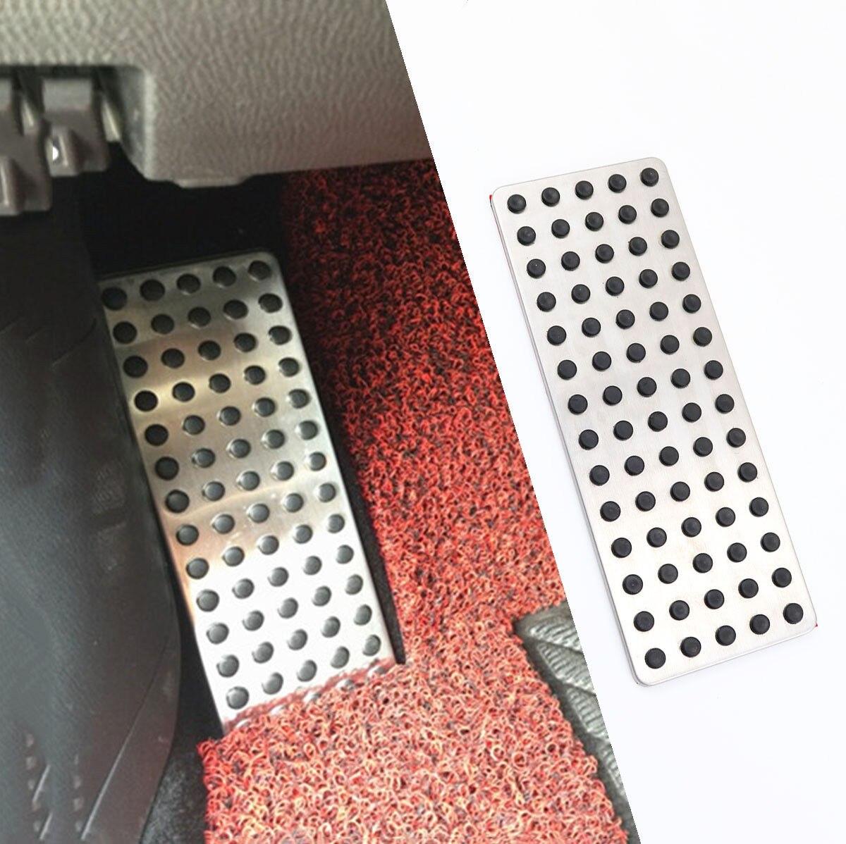 CHROME  SILVER  SIMULATED ALUMINUM FLOOR MATS 4 PCS  AAA+