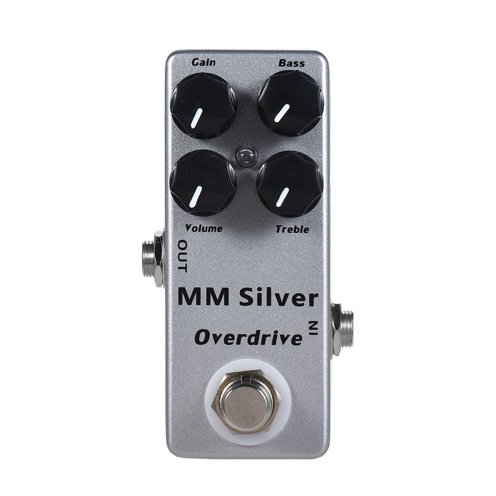 SOACH MM Silver Electric Guitar Overdrive Effect Pedal Full Metal Shell True Bypass amo 3 mario bit crusher electric guitar effect pedal aroma mini digital pedals full metal shell with true bypass