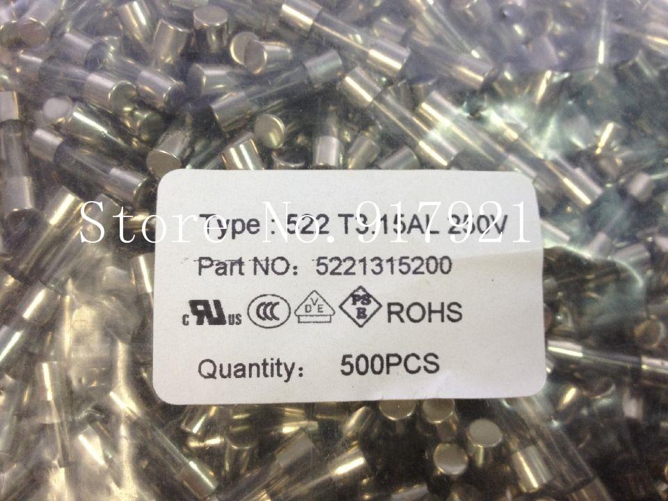 [ZOB] The German Better 522T3.15AL Betty insurance tube fuse 3.15A250V 5X20 to ensure genuine --200pcs/lot