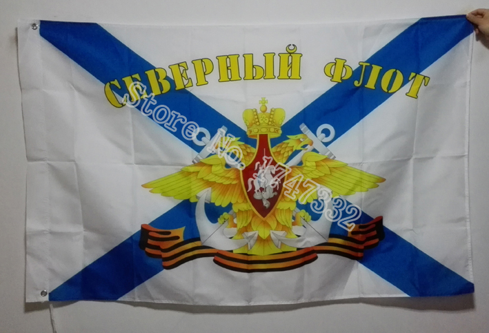 Naval Forces Military Flag of Russian Navy Lippu kuuma myydä tavaroita 3X5FT 150X90CM Banner messinki metalli reikiä RN03