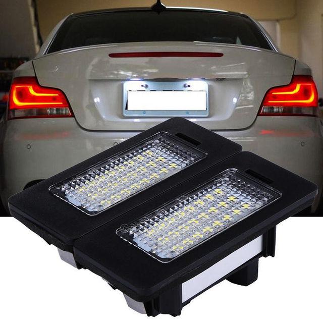 Car Led Accessory Led License Plate Lights No Error Code for BMW 5 Series (E39, E60, F10) for 1 E82, E88, F20, F21 for 3 E90