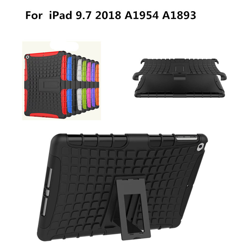 Shockproof Armor Anti-knock Shell For Apple New iPad 9.7 inch 2018 Release A1954 A1893 Hybrid TPU+PC Stand Case Tablet Cover