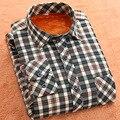 2016 Мужской Моды Дешевые Качества зимой рубашки мужчины Плед Рубашки С Длинным Рукавом Теплый Постоянный сорочка homme