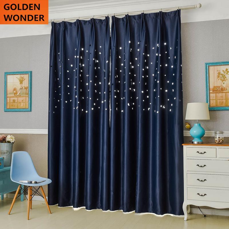 Neuheit Artikel Stern Vorhang Schlafzimmer Tuch Vorhnge Fr Wohnzimmer Kinderzimmer Hohl Sterne Licht Durch
