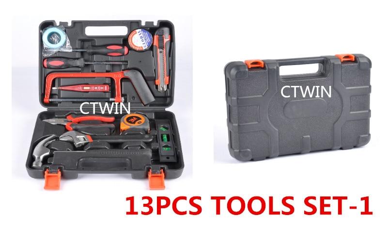 Fabricants vendant 13 pièces matériel boîte à outils voiture ou cadeaux ménagers utilitaire outils à main combinaison costume outils d'entretien
