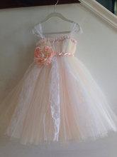 2016 Дети девушки чистой вуаль фортепиано производительность одежда подарок на день рождения небольшой платье невесты цвета длинный отрезок