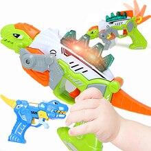Детская пушка с динозаврами, игрушка для малышей, плачущая музыкальная Поющая игрушка для мальчиков, Детская игровая Мобильная игрушка для детей 0-12 месяцев, обучающая Голосовая игрушка для младенцев