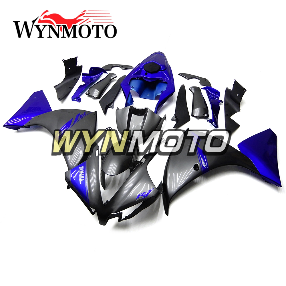 Complete ABS Plastic Injection Pearl Blue Black New Motorcycle Fairings For Yamaha YZF R1 Year 2012 2013 2014 Fairing Kit Hulls