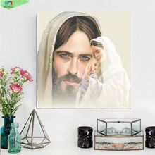 DIY 5D Diamond Painting cross stitch Religion Portrait round crystal sets embroidery beading jesus family sticker handmade qw01