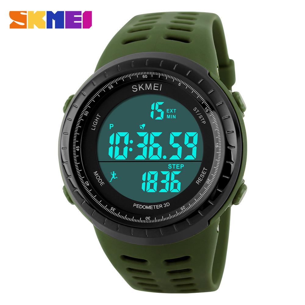 Hot sport watches pedometer LED Digital Outdoor Casual Waterproof Boys Girls Kids Electronics Men Young Student