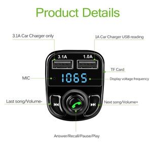 Image 4 - Onever Auto FM Transmitter Aux Modulator Bluetooth Bluetooth Verbindung Lautsprecher Car Kit MP3 Player Adapter mit 5V / 4.1a Schnellladung A2DP Funktion Dual USB Auto Ladegerät Freisprecheinrichtung Smart Charging