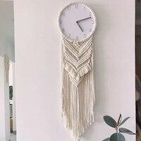 Nordic Wind Macrame Wall Hanging Tapestry Available Wall Hanging Wall Clock Boho Decor Tapestry Mandala
