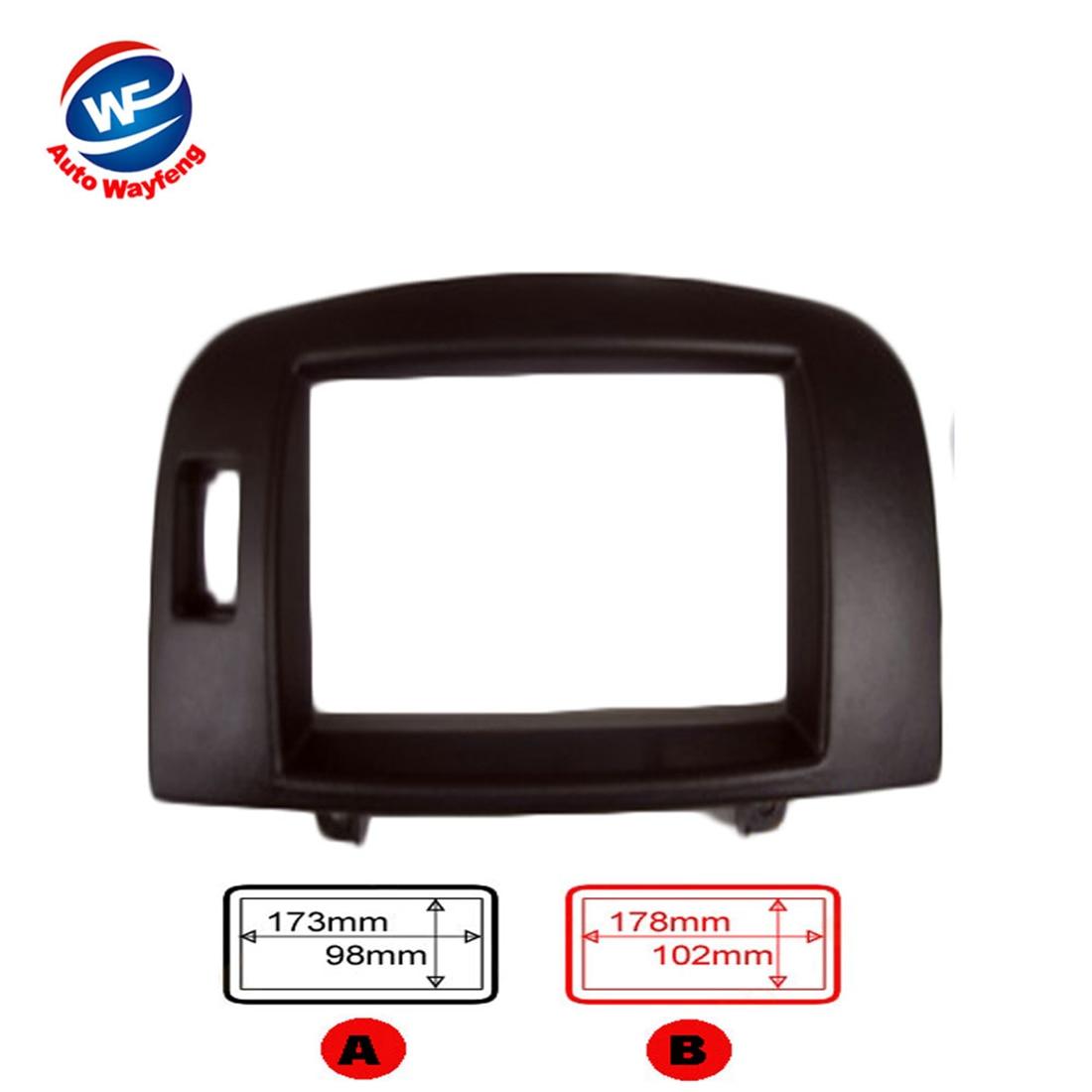 imágenes para Radio de coche fascia Ajuste Para HYUNDAI Sonata NF Sonica 2004-2008 wo/señal de airbag car DVD Doble din Fascia Audio Bisel Facia