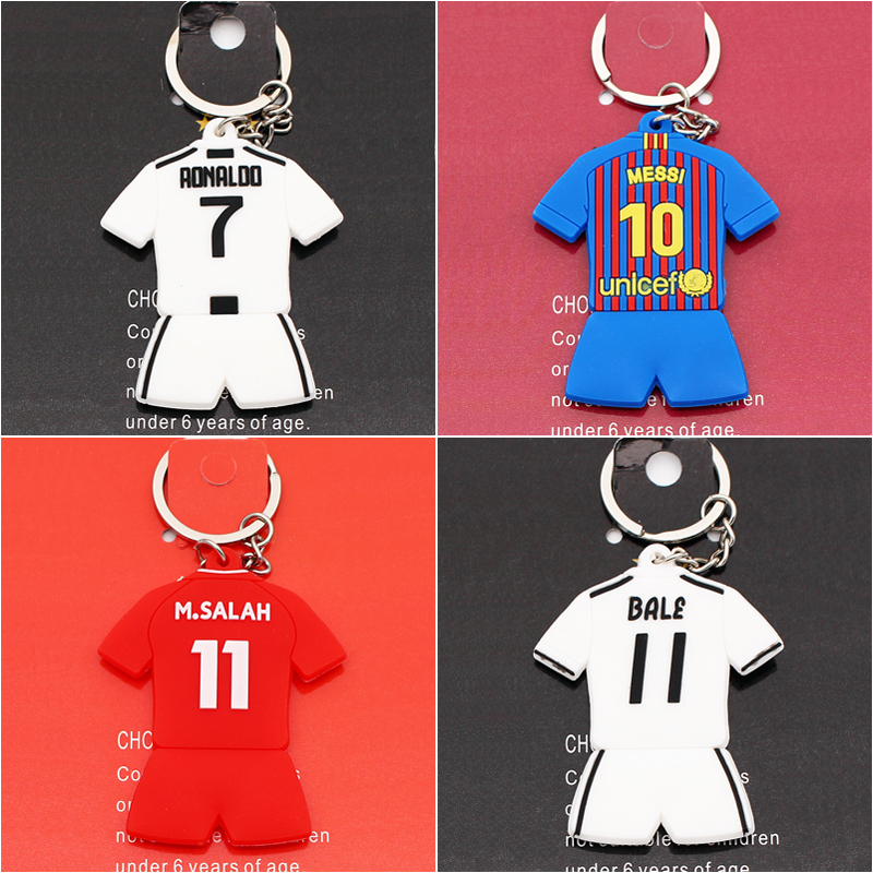 new arrival 12b12 a1fcc Soccerwe Ronaldo Messi Salah Sanchez Kits Doll 2019 Season Home Kit Colors  Loverly Figurine 2.6 Inches Height PVC Toy Decoration
