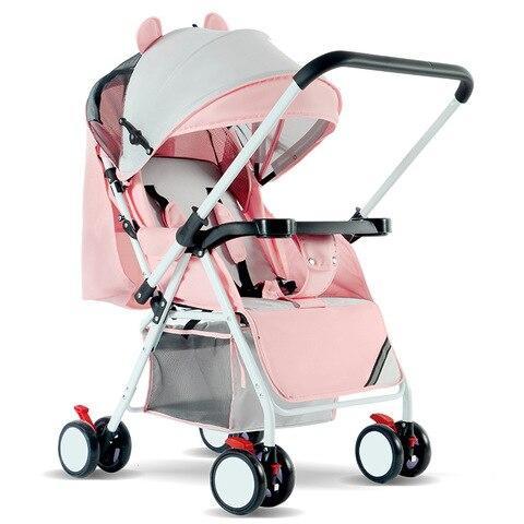 carrinho de bebe luz ultra dobravel e facil pode sentar mentira bebe simples 4 4kg0