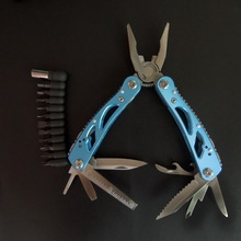 NEWACALOX Outdoor Multitool Pliers Repair Pocket Knife Fold Screwdriver set