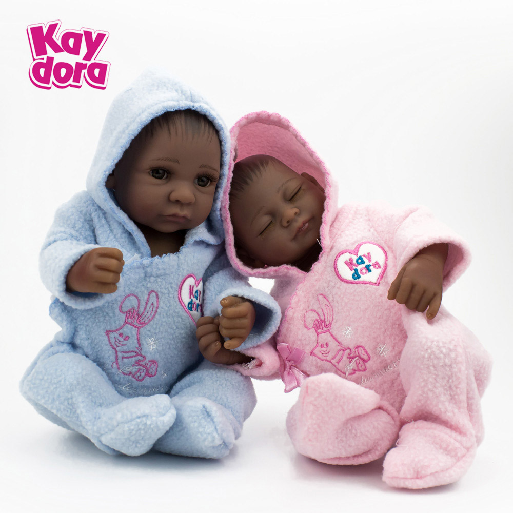 Kaydora 10 Inch 28CM Mini Baby Dolls Reborn Handmade Lifelike Twins Baby Dolls Realistic Full Vinyl Dolls Toys kaydora 10 inch 28cm full body vinyl silicone reborn baby dolls lifelike mini real dolls small realistic bebe reborn babies toys