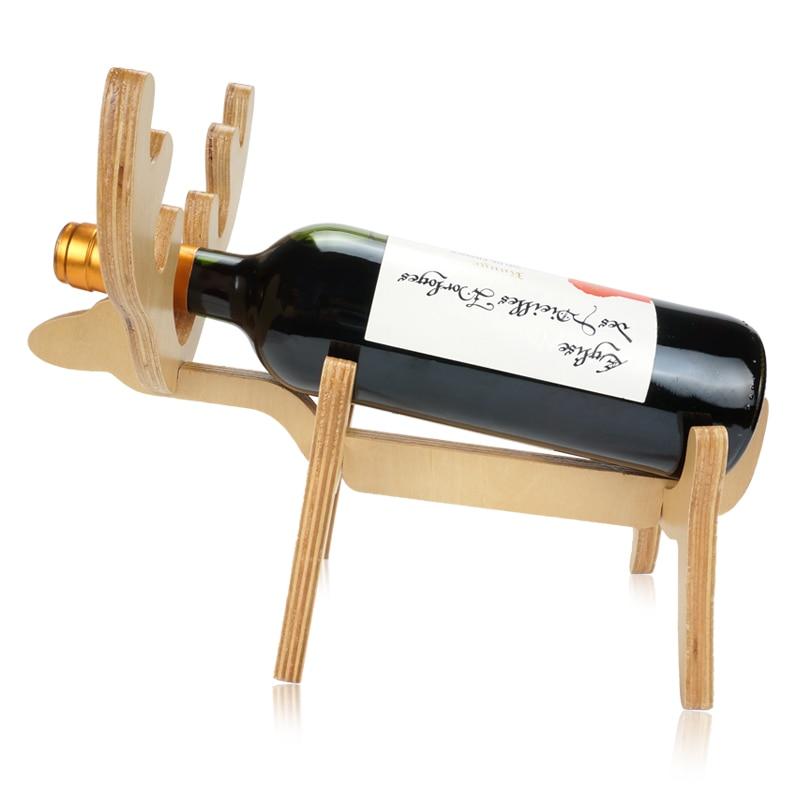 US $7.49 40% OFF|Wine Holder 1set deer wine rack Wine stand wood Home  Decoration Kitchen Bar Accessories reindeer Wine Craft Gift Handcraft-in ...