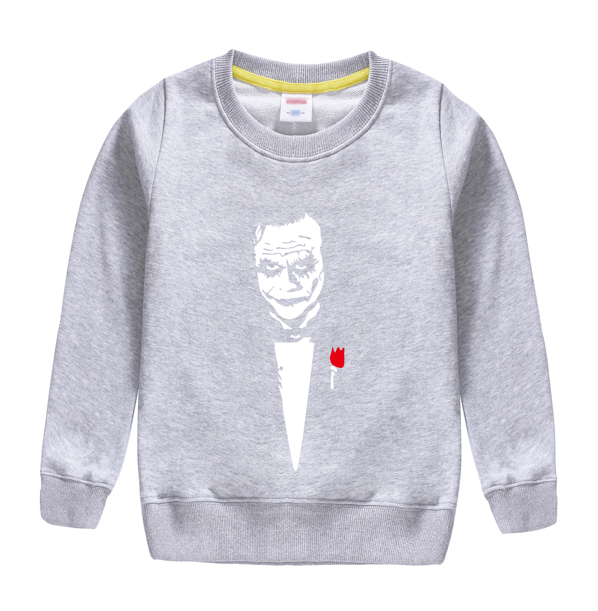 2018 new fashion funny man cartoon pattern cotton sweatshirt baby boy hoodie warm clothing design for 4-13t kids with 8 colors