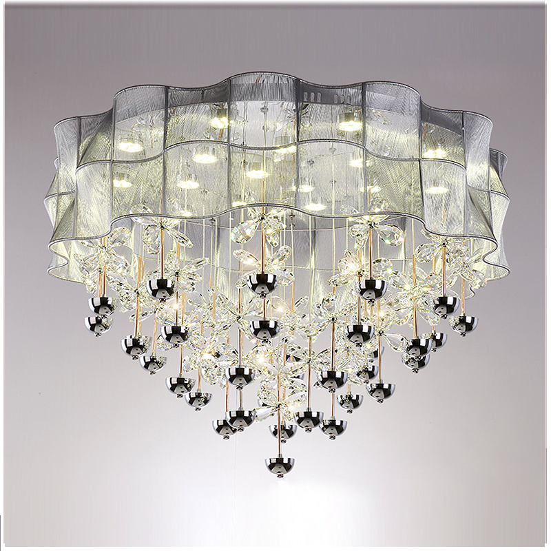 Ceiling Light Simple Modern Warm Romantic Circle LED Crystal Atmosphere Home LampCeiling Light Simple Modern Warm Romantic Circle LED Crystal Atmosphere Home Lamp