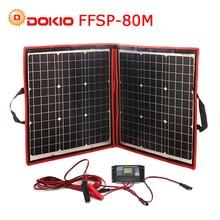 Dokio 18 В 80 Вт гибкие Foldble моно Панели солнечные открытый Портативный Панели солнечные для путешествий и лодки и RV высокое качество Панели солнечные китай