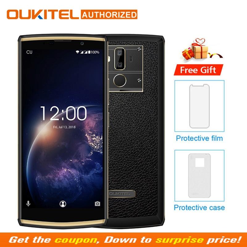 OUKITEL K7 de 2G RAM 16G ROM teléfono móvil Android 8,1 MT6750T Octa Core 6,0 HD + 13.0MP + 2.0MP 10000 mAh huella dactilar teléfono inteligente