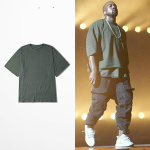 Vintage Oversize T Shirt Kanye West T-shirts Half Sleeve Brand Clothing Hip Hop Tee Shirt Swag Lovers Streetwear Trasher(China)