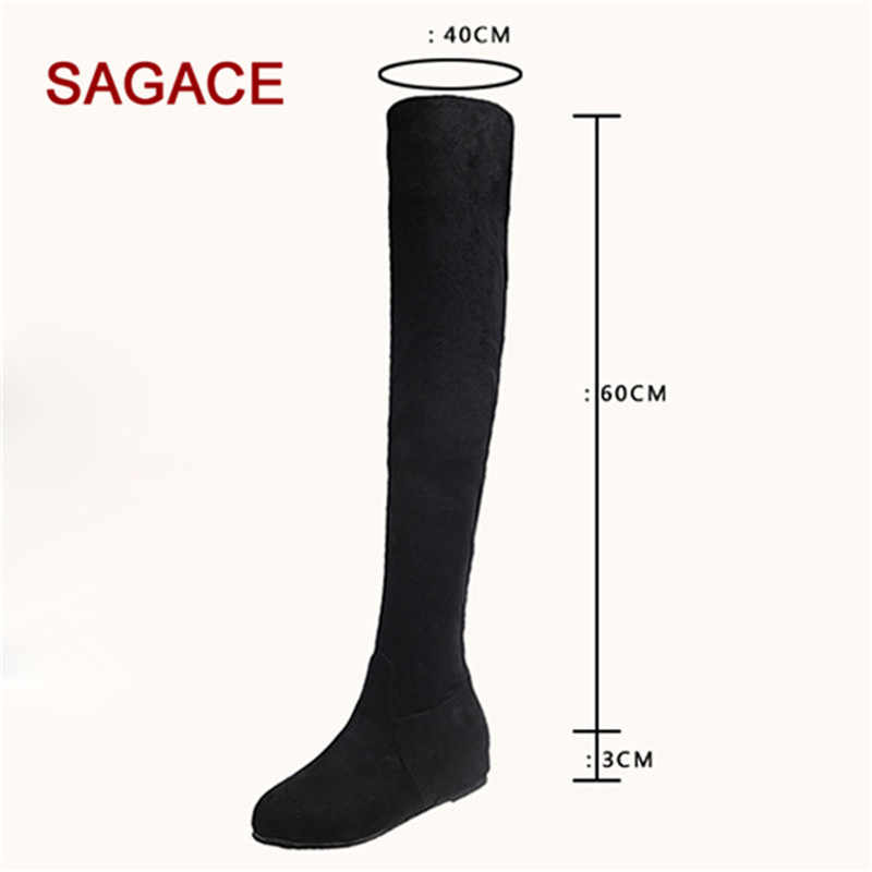 Women Boots Winter Suede Slip-On Round Toe High Boots Over-The-Knee Shoes Martin Boots Dropship