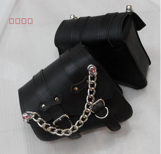 Free shipping motorcycle modified car side saddle Bag edging box side bag kit bag with skeleton