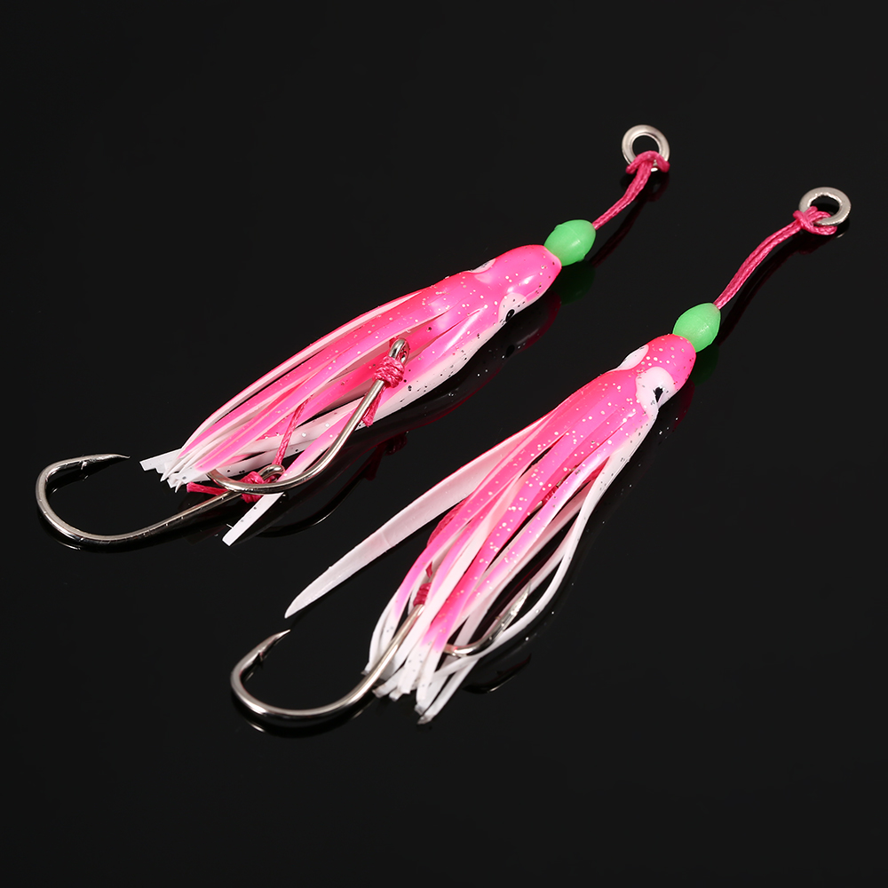 2PCS/lot Soft Octopus Fishing Lures Artificial Jigging Bait Squid Skirt Octopus  with Hooks feeders for Carp Pesca