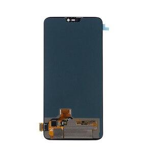 Image 4 - AMOLED מקורי LCD תצוגה עבור Oneplus 6 תצוגת מגע מסך החלפת ערכת 6.28 סנטימטרים 2280*1080 זכוכית מסך + כלים