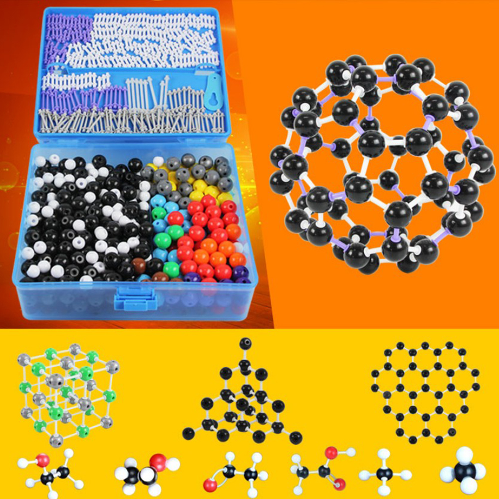 J3111-T 784 Pcs/lot Molecular Model Set Kit-General And Organic Chemistry For School Lab Teaching Research