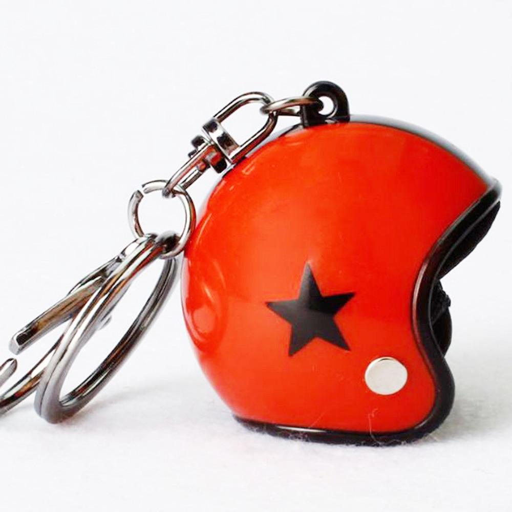 VEHEMO шлем 4,5*4,2 см автомобильные ключи Висячие капли брелок аксессуары Ювелирные наборы автомобильные запчасти - Название цвета: red black