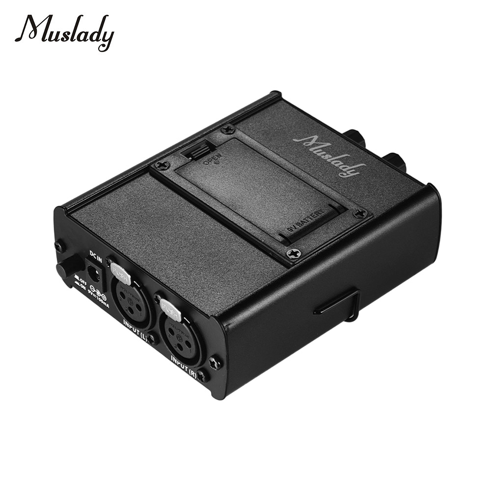Muslady Personal In ear Monitor Headphones Earphones Amplifier Amp with XLR Inputs 3 5mm Output
