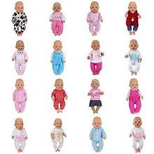 Костюм для куклы, подходит для 43 см, Детская кукла, кукла реборн, детская одежда
