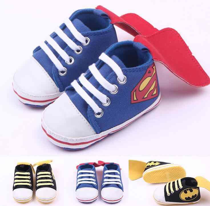 Baby Boys Girls Sport Shoes First Walkers Superman Toddler Infant Newborn Sneakers Cotton Bebe Prewalkers Footwear Kids Shoe
