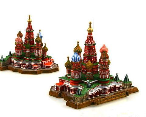 Modelo de Turismo Coleção de Decoração para Casa Assunção Rússia Vasily Igreja Resina Criativo Artesanato Famoso Marco Mundo Presentes da Lembrança
