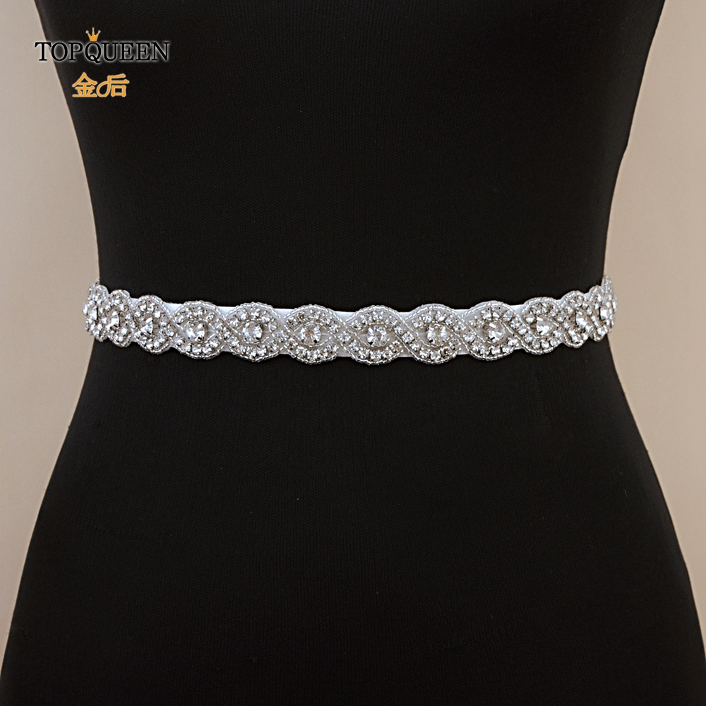 TOPQUEEN S28A Free Shipping Woman's Party Belt Rhinestone Belt Bridal Applique Wedding Belt Rhinestone Belt For A Wedding Dress