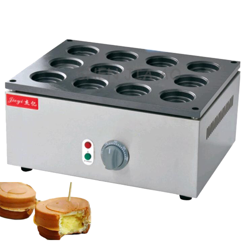 12-Holes electric red bean grill FY-2230A desktop electric wheel bread cake machine red bean bread grill machine 220V  1PC free shipping electric 9 hole bean cake grill taiwan wheel bread machine buy machine come with recipe