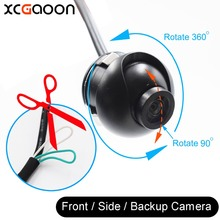 XCGaoon New Mini CCD 140 Degree Wide Angle Real Waterproof Car Front / Side / Rear View Backup Camera Can 360 Rotate