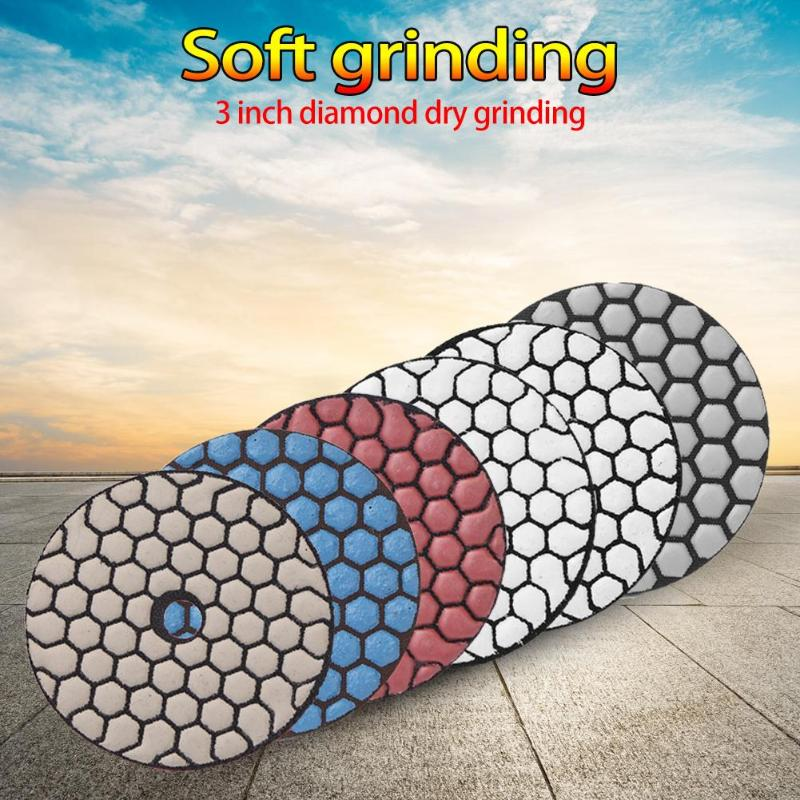 1Pcs Diamond Polishing Pad Marble Granite Polishing Wheel Disc Abrasive Tool Four Styles And Choices Wet/Dry For Granite Stone