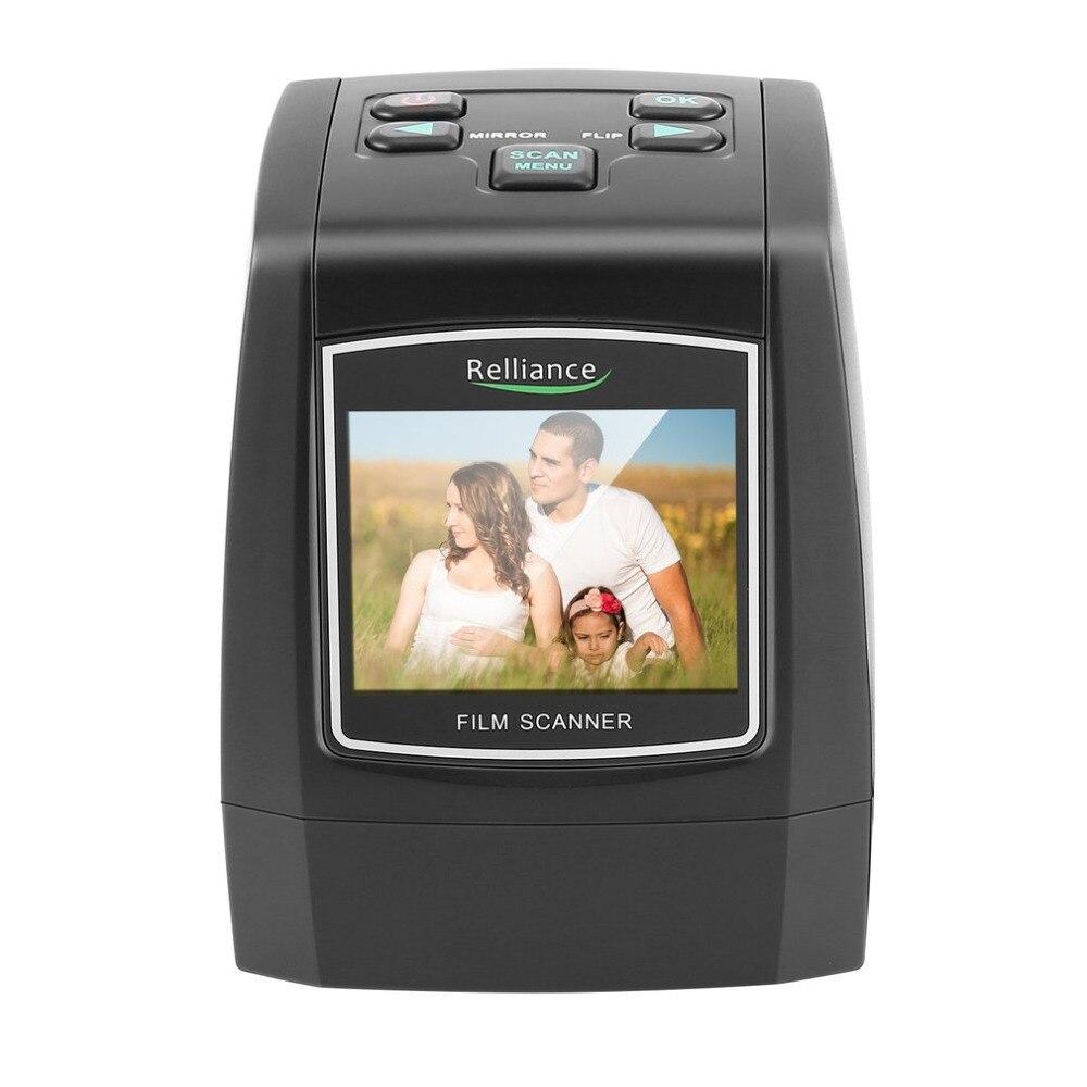 Photos Scanner Digital USB Film Scanner 2.36 35mm/135mm LCD screen High Fast Photo Printe Resolution CMOS Sensor Slides high quality portable 2 36inch usb 2 0 5mp lcd screen 35mm high resolution negative film scanner