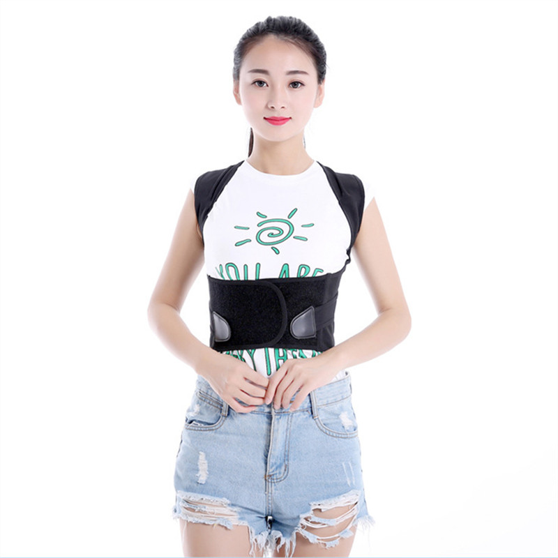 Fashion Universal Back Care Posture Corrector Brace Humpbacked Prevent Shoulder Support Bandage Therapy Belt Health Care T191B