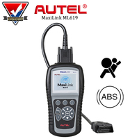 AUTEL MaxiLink ML619 Automotive Code Reader OBD2 ABS Airbag System Scanner Car Diagnostic Tool with Full OBDII Functions