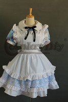 Cosplaydiy Alice in Wonderland Princess Alice Lolita Dress Girl & Women Sweet Kawaii Short Sleeve Maid Cosplay Dress Custom Made