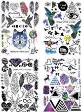 Save More 4PCS/SET 21X15cm Combo Multi-style Fashion Cool Temporary Tattoo Combo#6