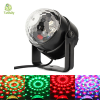 Tanbaby DJ Light Sound Activated Party Lights Disco Club Lights Effect Magic Mini Led Stage Lights