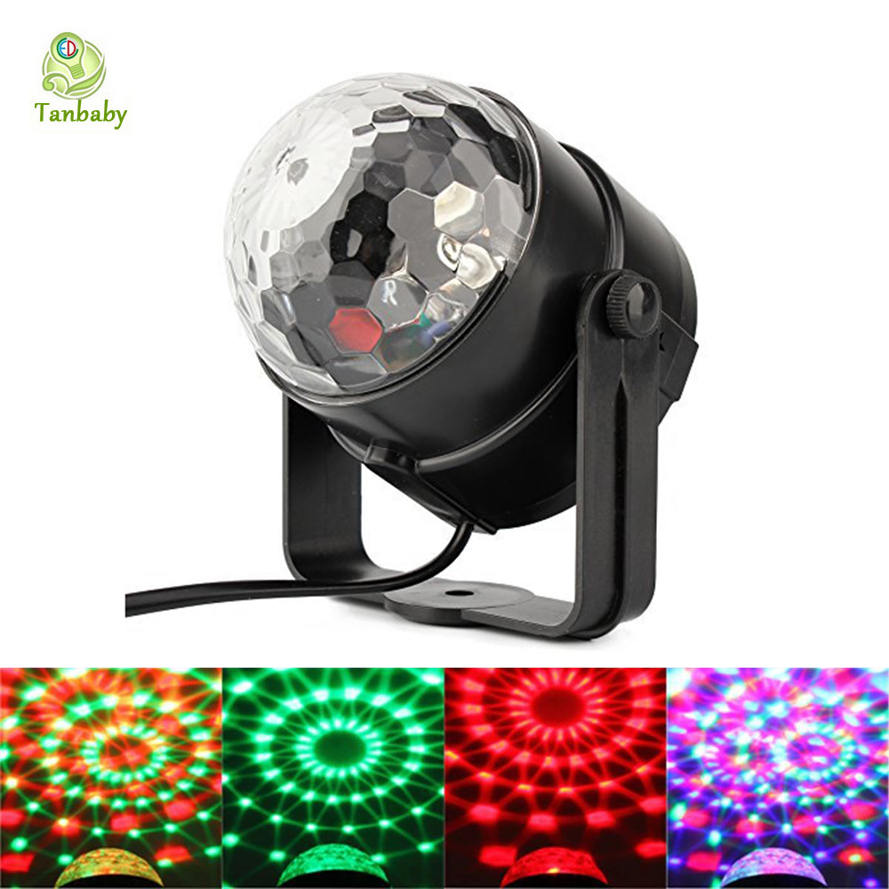Industrial Light Sound Effect: Tanbaby 5W DISCO BALL PARTY LIGHTS Sound Activated Stage