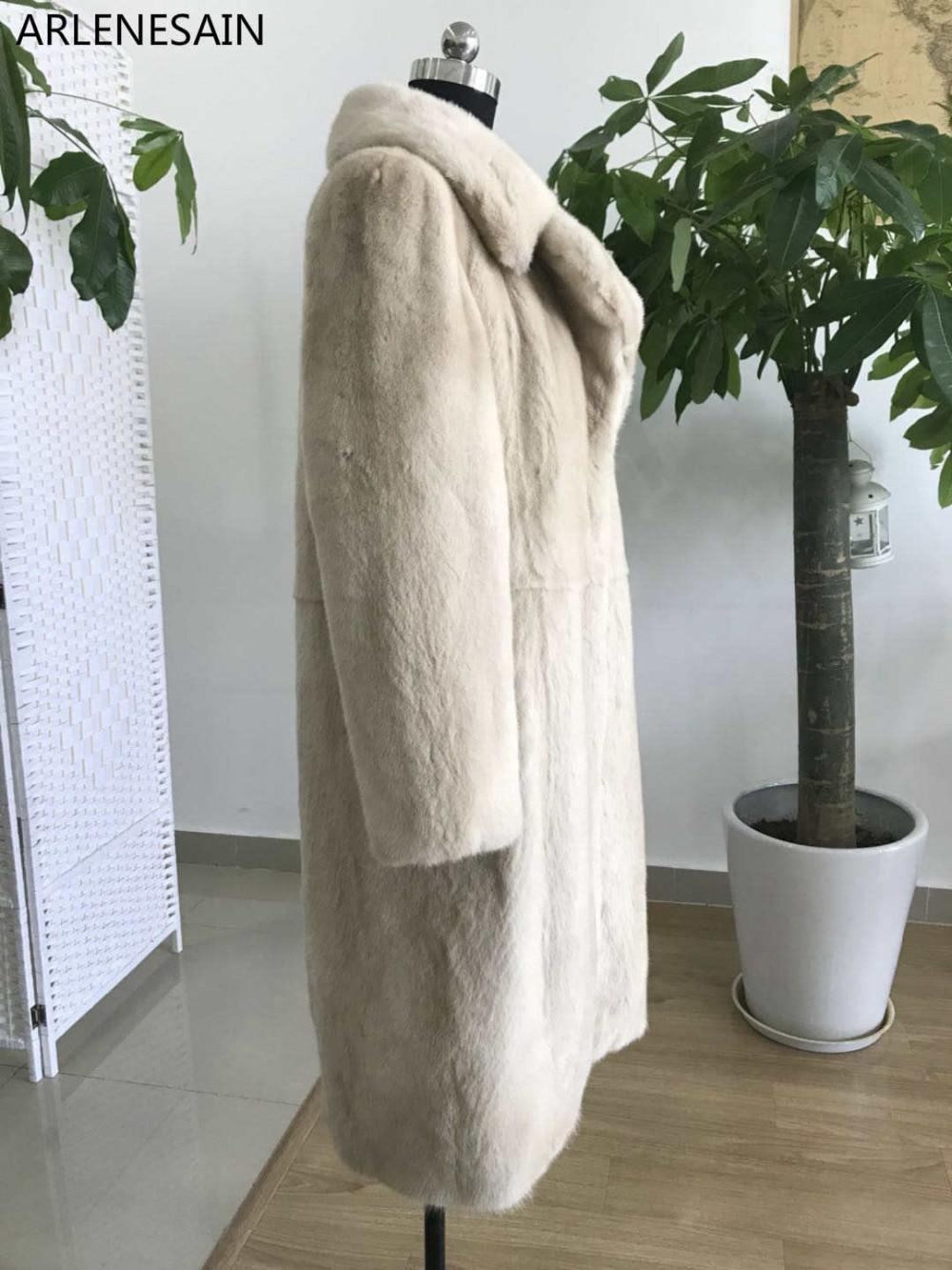 Arlenesain 2018 Femmes Beige Manteau Nouvelle Personnalisé Couleur Mode Fourrure Vison De OrqFO5xwS