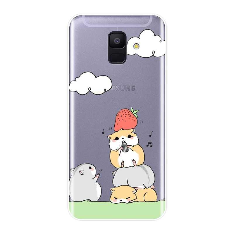 Чехол для телефона для samsung Galaxy A6 A8 плюс 2018 мягкий силиконовый хомяк задняя крышка для samsung Galaxy A6 A7 A8 2018 A3 A5 2016 2017